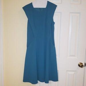 NWOT Maggy London Sleeveless Teal Dress-Pockets!